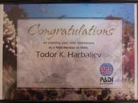 PADI Certificate Todor H